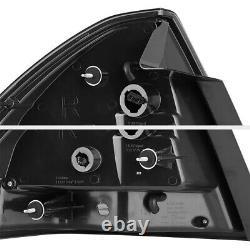 Noir 06-13 Chevy Impala C-shape Led Neon Tube Tail Lampe De Frein Léger Gauche + Droite