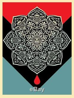 Obey Blood & Huile Mandala Impression D'un Jeu Par Shepard Fairey De / # Mint Condition