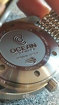 Ocean Crawler 600m De Base Diver Sellita Mouvement Ltd Edition En Parfait État
