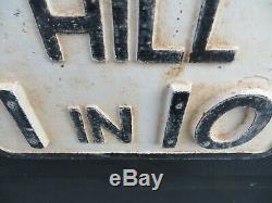Old Road Sign Hill 1in 10 Gowshall Ltd État Du Bord De La Route Vintage Superbe