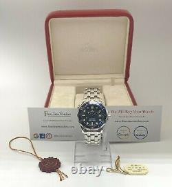 Omega Seamaster 25618000 Mid-size Watch Blue 36.25mm Excellent État