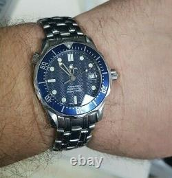 Omega Seamaster 25618000 Montre Bleue Taille Moyenne 36.25mm Nice Condition (80586)