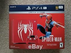 Pack Console Spider-man Ps4 Pro 1 To, Édition Limitée, 4 Ko Et Plus - En Parfait État