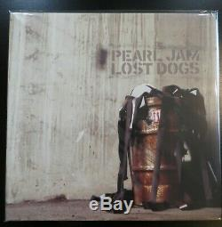 Pearl Jam Perdu Dogs 3 Lp Mint Condition Vinyle Noir Tri Fold Couverture Rare