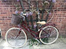 Pendleton Somerby Ladies 17 Vélo Avec Panier Edition Limitée Red Exc Condition