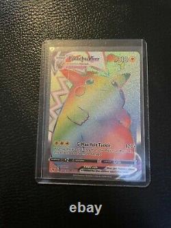 Pikachu Vmax Rainbow Rare Paquet De Tension Vive État De Menthe Fraîche