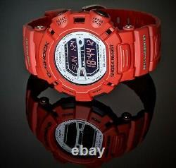 Rare Casio G-shock Mudman Red Watch G-9000mx-4d Nouvelle Batterie Grande Condition