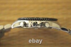 Rare Condition Display Démo Citizen Wht/blk Wr100 Chronograph Watch + Coffret