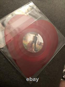 Rare Lana Del Rey Lust For Life/love Lp Edition Limitée Forme De Coeur Vinyl