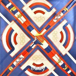 Rare Vintage Hermès Excellent État Carre 90 Abc Olympics 1984 J. Abadie