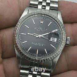 Rolex Datejust Ref 16014 Set Automatique Rapide Date De Circa 1985 Great Condition