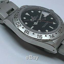 Rolex Explorer 2 16570 Gmt Automatique Circa 1995 Polonais Titre Original Great Condition