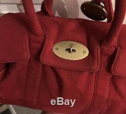 Sac À Main Bayswater Mulberry Rouge Écarlate, Bel État, Édition Limitée