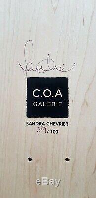Sandra Chevrier Imprimer Sur Planche À Roulettes Ltd Ed De 100. Très Rare! État Neuf