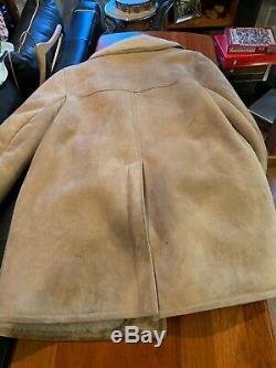 Sawyer Napa Manteau En Peau De Mouton Shearling Marlboro Homme Veste 44l Belle Forme