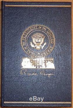 Signé Easton Press Une Vie Américaine Ronald Reagan Avec Boîte En Chêne État Parfait