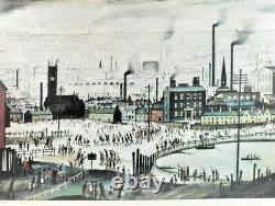Signé Édition Limitée Imprimer Une Ville Industrielle Ls Lowry Grande Condition