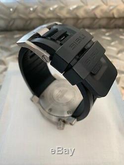 Sisu Bravado Montre Bq350-0153 Suisse Mvmt-silver & Black-excellent État