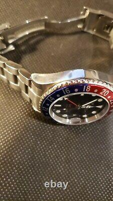 Squale 30 Atmos 1545 Gmt Pepsi Ceramica Great Condition Withbox & Papers