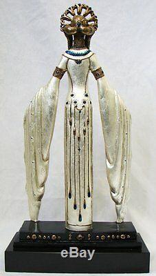 Statue En Bronze De Femme Byzantine Originale 20 Erte, Excellent État Ltd 22/375