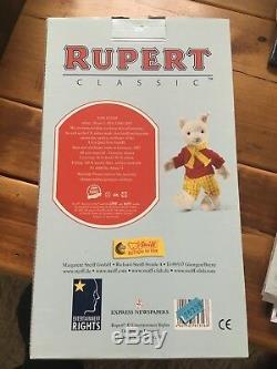 Steiff Rupert Bear Edition Ltd. Boîte D'origine, En Parfait État