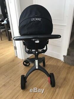 Stokke Xplory Limited Edition Tout En Noir, État Incroyable À Peine Utilisé