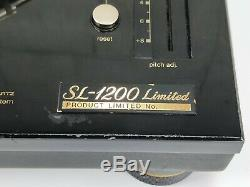 Technics Sl-1200 Ltd Platine Vinyle Or Edition Limitée En État Vg