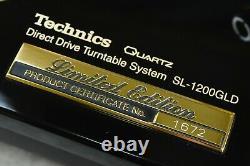Technics Sl-1200gld Limited Edition En Excellent État #no. 1672