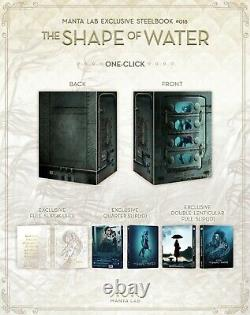 The Shape Of Water (one Click) Manta Lab Blu-ray Steelbook Scellé + Menthe