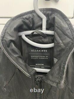 Tous Les Saints Veste En Cuir Noir Taille M (excellent État)