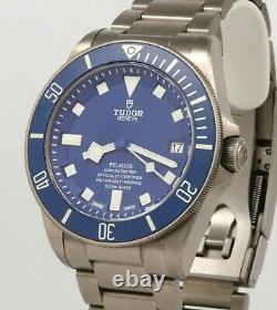 Tudor Pelagos Blue 25600to Titanium Ensemble Complet! État Époustouflant! 25600
