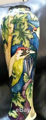 Vase Woodpecker En Édition Limitée, Poterie Moorcroft. Condition, D'abord, Menthe