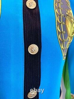 Versace Baroque Années 1990 Versus Vintage Jacket Bolero Spectacular Great Condition