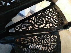 Vintage Safety Stairways Ltd Black Peint Cast Iron Staircase- Bon État